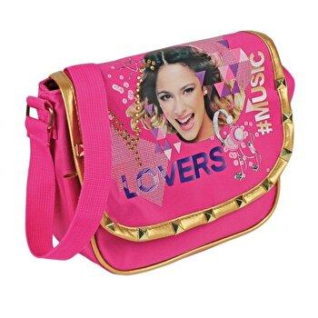 Geanta de umar Disney Violetta Music Lovers, 20×7.5×20 cm de la Disney