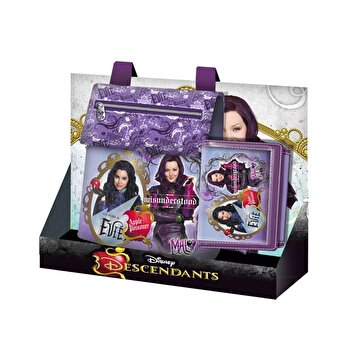 Set geanta si portofel Disney Descendants, 8x36x35 cm de la Disney