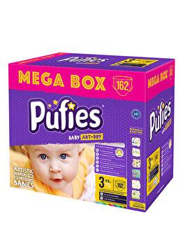 Scutece Pufies Baby Art Mega box, 3 midi, 162 buc de la Pufies