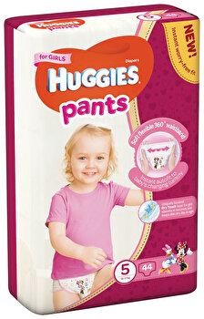 Scutece-chilotel Huggies Mega girl 5, 12-17kg, 44 buc de la Huggies