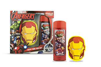 Set cadou (Gel de dus 250 ml + burete de baie Iron Man) de la Marvel Avangers
