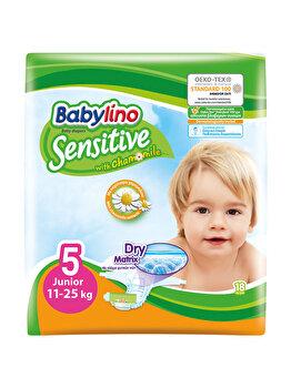 Scutece Babylino Sensitive 5 Junior, 11-25 kg, 18 Buc. de la Babylino