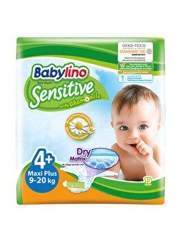 Scutece Babylino Sensitive 4+ Maxi Plus, 9-20 kg, 19 buc. de la Babylino
