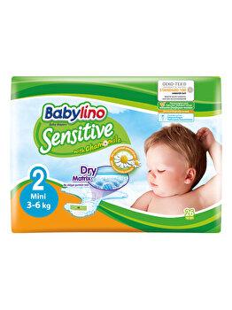 Scutece Babylino Sensitive 2 Mini, 3-6 kg, 26 buc. de la Babylino