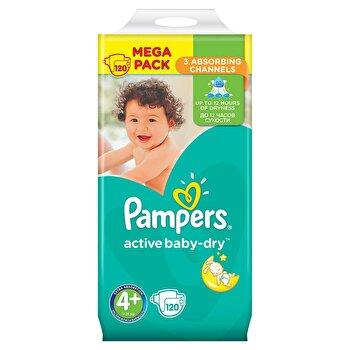 Scutece Pampers Active Baby Maxi Plus 4+ Mega Box, 9-16 kg, 120 buc de la Pampers
