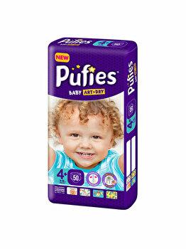 Scutece Pufies Baby Art 4+ Maxi+ Maxi Pack, 50 buc de la Pufies