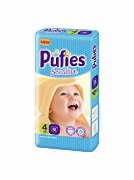 Scutece Pufies Sensitive 4 Maxi, Maxi Pack, 56 buc de la Pufies