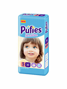 Scutece Pufies Sensitive 5 Junior, Maxi Pack, 48 buc de la Pufies