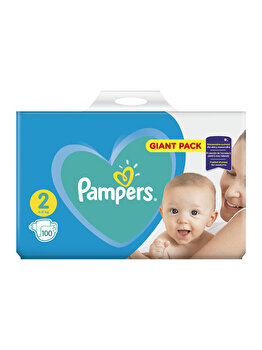 Scutece Pampers New Baby 2 Giant Pack, 4-8 kg, 100 buc de la Pampers