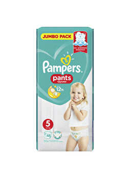 Scutece-chilotei Pampers Active Baby Junior 5 Jumbo Pack, 12-17 kg, 48 buc