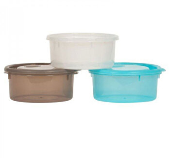 Set 3 castronele cu capac 730 ml de la Bo Jungle