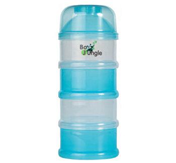 Containere albastre lapte praf BO Jungle cu 4 compartimente