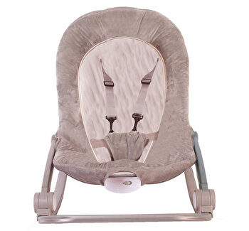 Balansoar cu vibratii BO Jungle pentru bebelusi cu arcada jucarii, Bej de la Bo Jungle