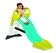 Smoby - Tobogan My Slide, cu sistem de apa -