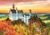Trefl - Puzzle 2 in 1 - Cai salbatici si Castelul Neuschwanstein, 1000 piese -