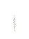 Pearls of London - Earring Brass Zirconia Organic pearls - Argintiu