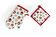 Heinner - Set bucatarie 2 piese (manusa de bucatarie 18x30 cm + suport oala 20x20 cm), Heinner, HR-KS2-OWL01, 100% bumbac - Alb-rosu-maro
