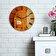 Home Art - Ceas decorativ de perete din MDF Home Art - Multicolor