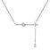 Diamond Style - Colier Diamond Style PEARDROPBARNECKLACE - Argintiu