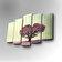 Art Five - Tablou decorativ pe panza Art Five, 747AFV1267, 5 Piese, panza - Verde fanat