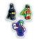 LEGO - The LEGO Batman Movie, Set 3 gume de sters - Batman, Robin, Joker - Negru