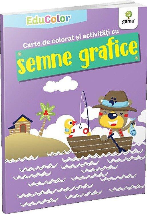 Coperta Carte Carte de colorat si activitati cu semne grafice