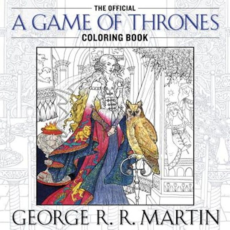 The Official a Game of Thrones Coloring Book: An Adult Coloring Book Paperback