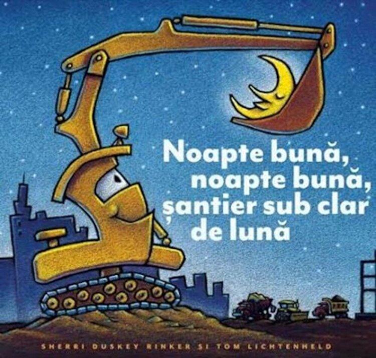 Coperta Carte Noapte buna, noapte buna, santier sub clar de luna