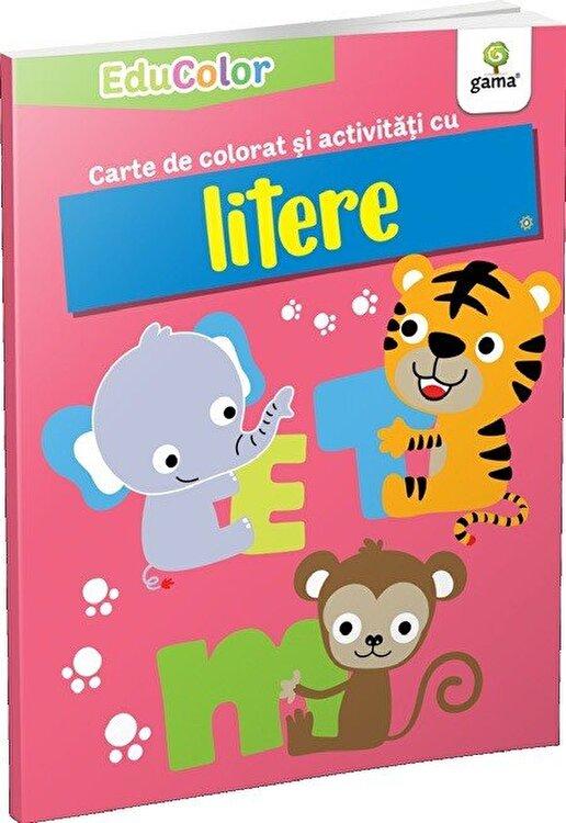 Coperta Carte Carte de colorat si activitati cu litere