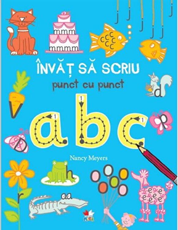 Coperta Carte Invat sa scriu punct cu punct ABC