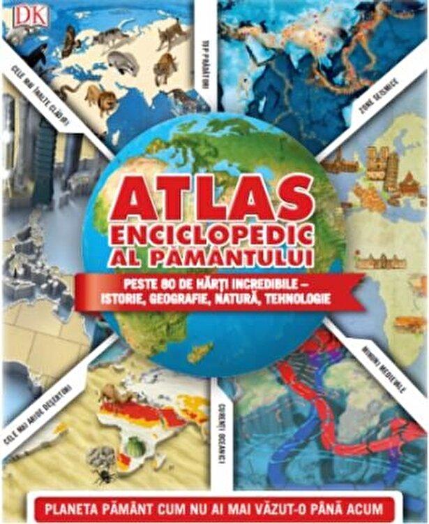 Coperta Carte Atlas enciclopedic al Pamantului