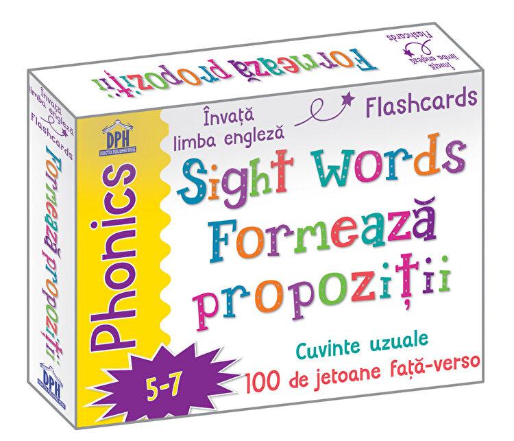 Coperta Carte Sight words - formeaza propozitii - jetoane limba engleza