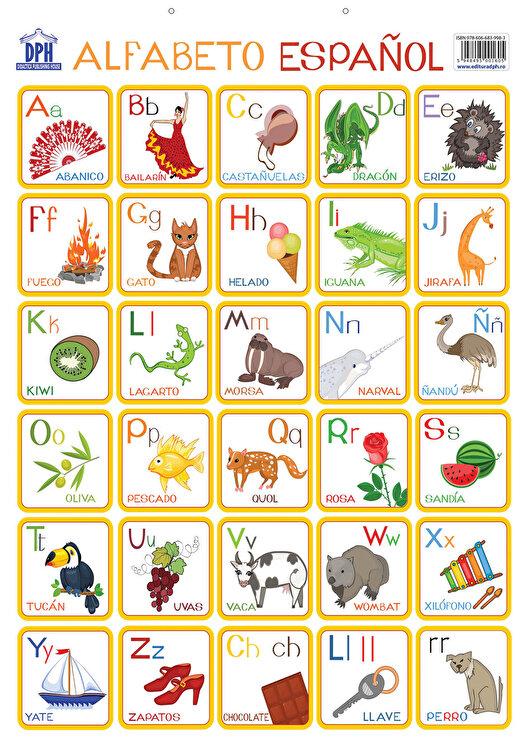 Coperta Carte Plansa - Alfabetul ilustrat al limbii spaniole