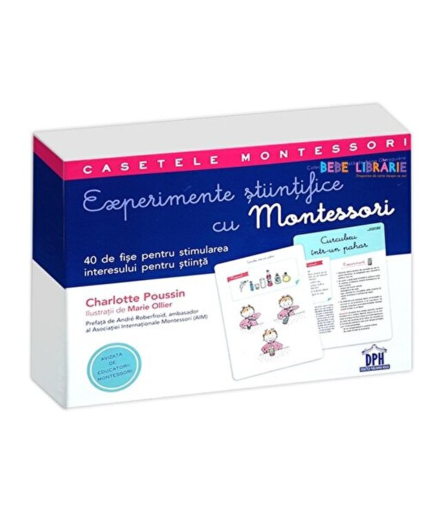 Coperta Carte Experimente stiintifice cu Montessori. Casetele Montessori