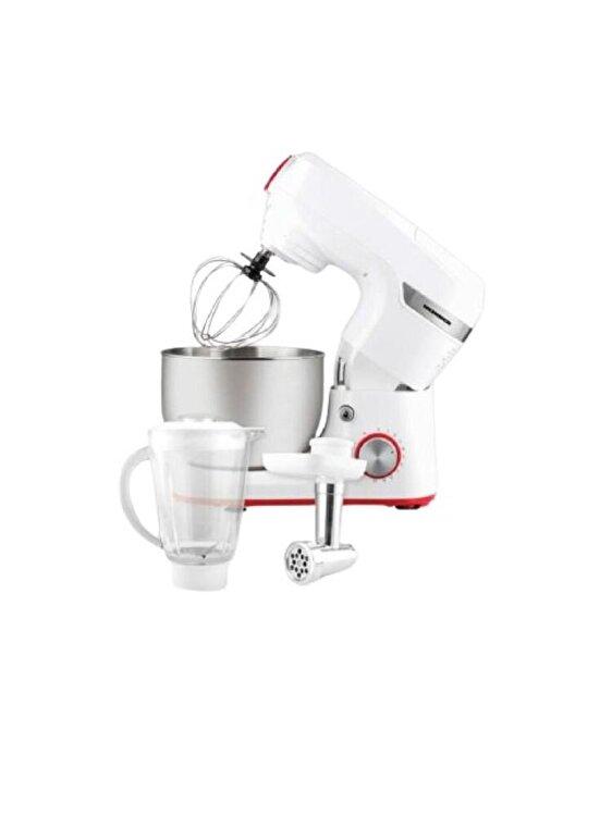 Robot de bucatarie Deissi, Heinner, 1000 W, 5.5 L, 10 viteze + Pulse, inox, Alb de la Heinner