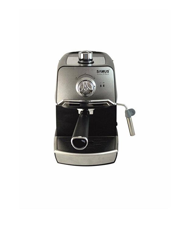 Espressor, Samus, AROMA 20 BLACK, 850 W, 1.2 L, inox, Gri de la Samus