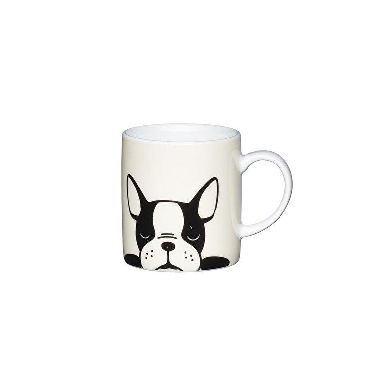 "Ceasca espresso ""French bulldog"", Kitchen Craft, 80 ml, KCESPRESS40, portelan, Multicolor de la Kitchen Craft"