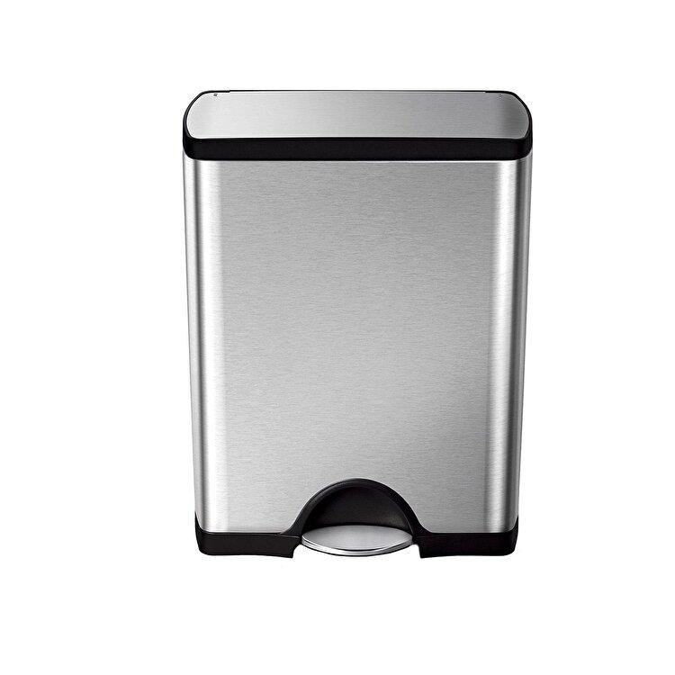 Cos de gunoi cu pedala, SimpleHuman, 50 L, CW1816, inox, Argintiu de la SimpleHuman