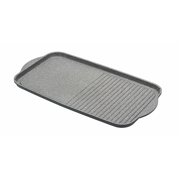 Tava grill, Kitchen Craft, 51 x 27 cm, MCMGRID, aluminiu, Gri de la Kitchen Craft