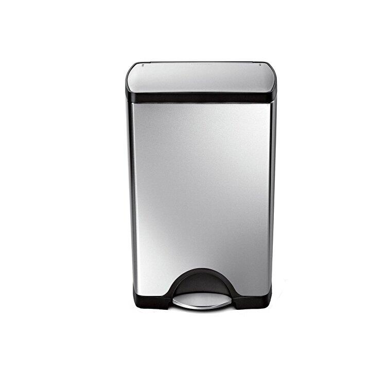 Cos de gunoi cu pedala, SimpleHuman, 38 L, CW1814, inox, Argintiu de la SimpleHuman