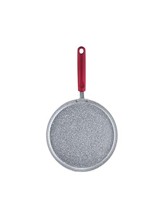 Tigaie pentru clatite, Ambition, 25 cm, invelis Qualum Basic Jasper, 20157, aluminiu, Rosu de la Ambition