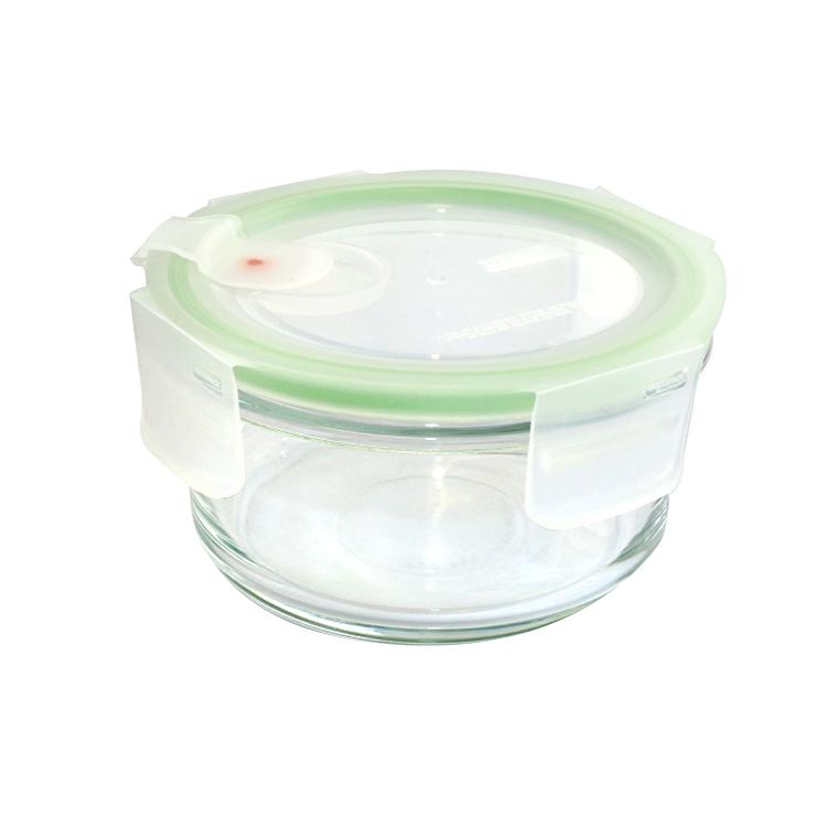 Caserola termorezistenta, Glasslock, 400 ml, MCCB040A, sticla, Verde de la Glasslock