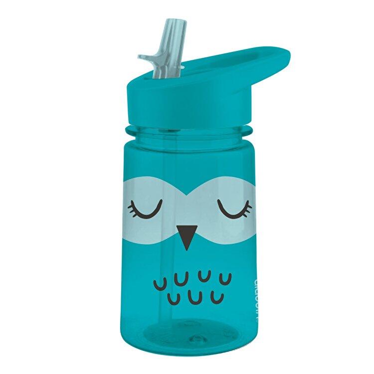 "Sticla apa ""Zoo Flip & Sip"", Aladdin, 430 ml, model bufnita, 1008541002, plastic, Albastru de la Aladdin"