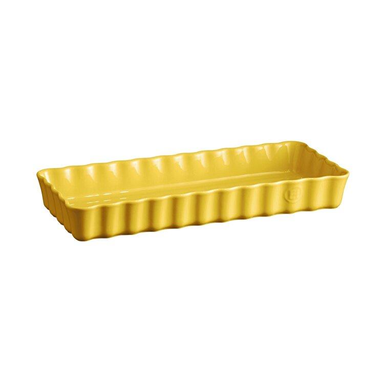 Tava ceramica pentru tarte, Provence yellow, Emile Henry, 36 x 15 cm, 603490, ceramica, Galben de la Emile Henry