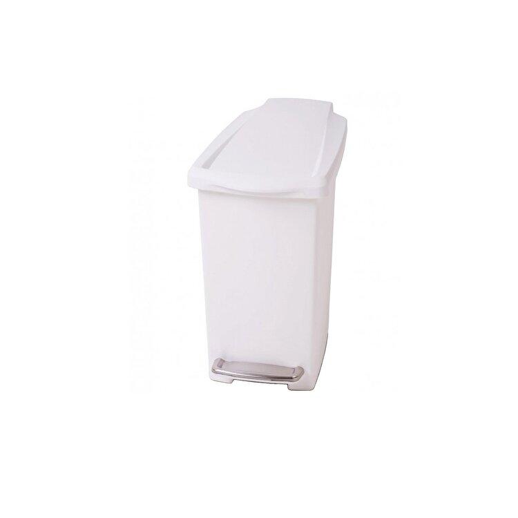 Cos de gunoi cu pedala, SimpleHuman, 10 l, CW1332, plastic, Alb de la SimpleHuman