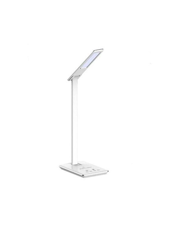 Lampa de birou cu Incarcator Wireless, V-TAC, 8601, 5W, LED, 2700-6400K, Alb de la V-TAC