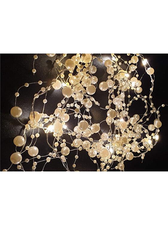 Ghirlanda luminoasa, Holly, 20 leduri si perlute, BC0063, 5 m, Alb de la Holly