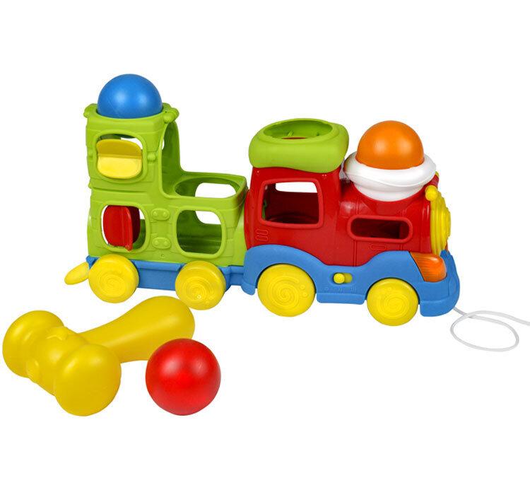 Trenulet muzical cu bile Winfun si ciocan pentru copii de la Winfun