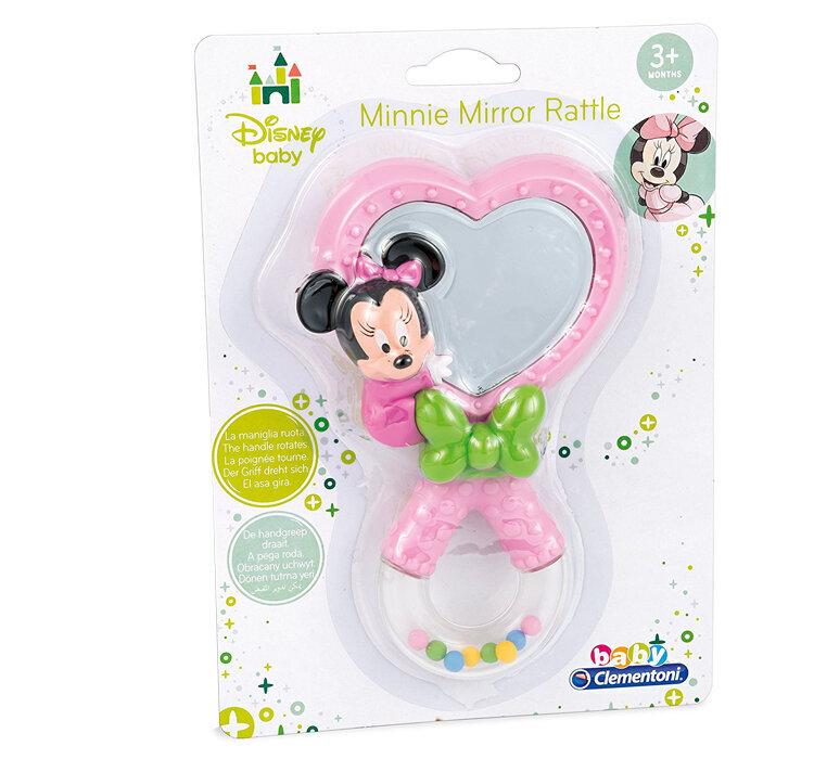 Jucarie zornaitoare cu oglinda pentru bebelusi Minnie Mouse, Baby Clementoni de la Clementoni