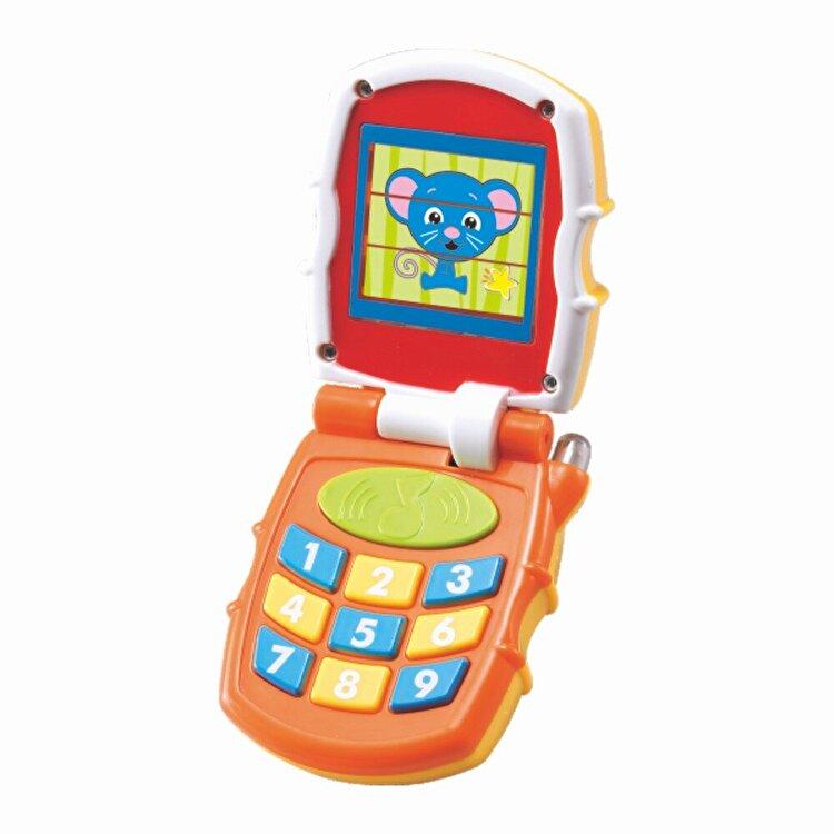 Telefon mobil bebe cu lumini si sunete de la Hola